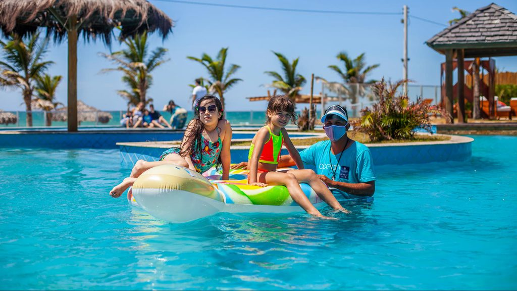 Brazilian holidaymakers at The Coral