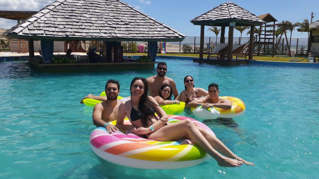 guests enjoying Ocean Lounge beach club